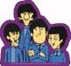 Beatlespurplecartoonsticker
