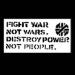 Crassfightwarnotwarsdestroypowernotpeoplesticker