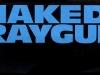 NakedRaygunblueonblacksticker