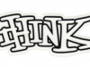 thinkskateboardswht5x2sticker