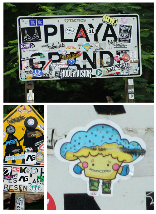 Playa Grande, Costa Rica sticker spotting